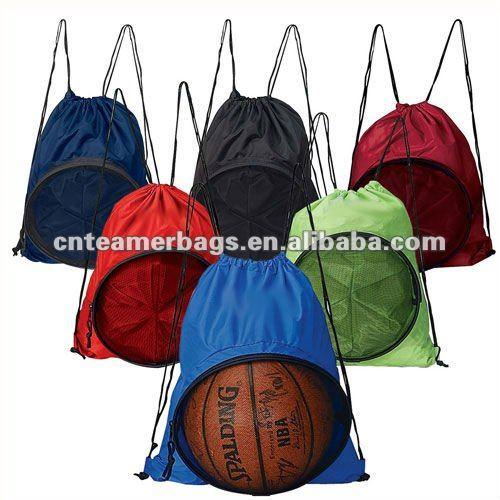 Creative Drawstring Bocce Ball Bag For Basketball Backpack 210d Sport Mesh Customized Backpacks