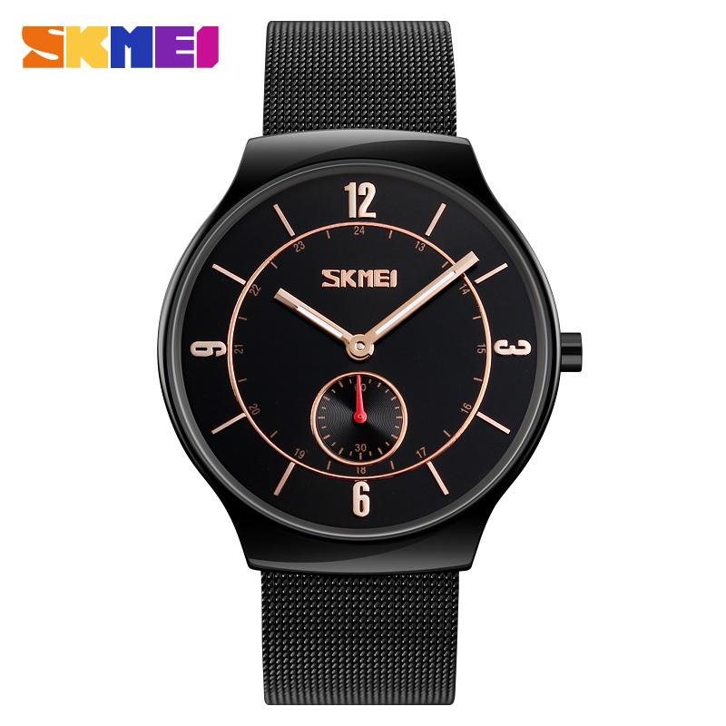 b2c0daaa7171 Лучший часы для мужчин SKMEI 9163 Япония Movt кварцевые часы из нержавеющей  стали назад