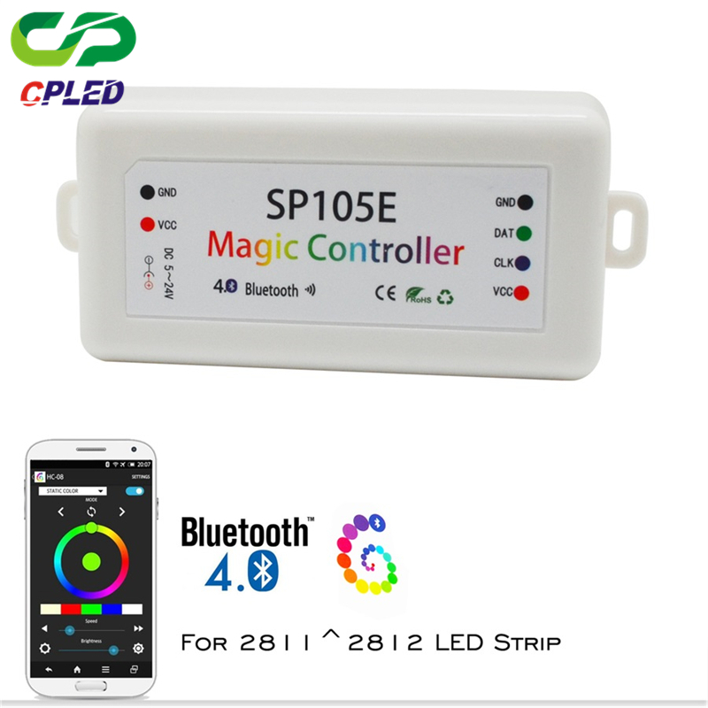 Magic led strip Controller SP105E For WS2812B SK6812 LPD8806 DMX512 1903 RGB Bluetooth Pixel LED Remote Controller