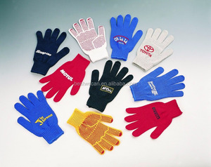 100% polyester Heat transfer print logo Promotional work gloves
