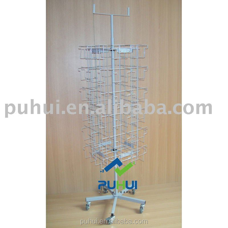 four sides wire pocket display rack