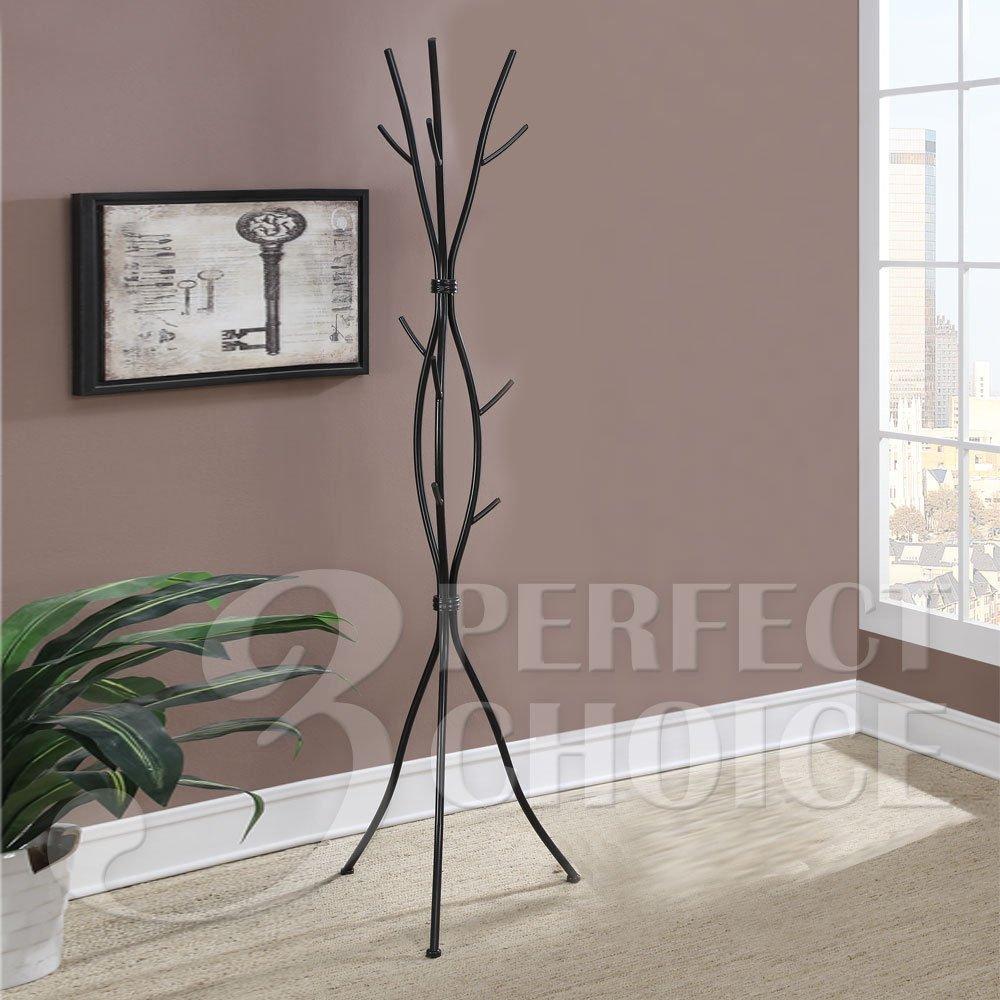 office coat tree. 1PerfectChoice Unique Vine Hallway Office Coat Rack Hat Hook Hanger Tree Stand Black Metal Iron D
