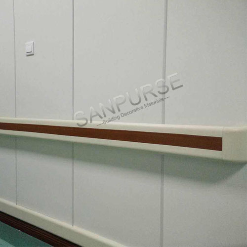 140mm factory price hospital vinyl and aluminum wall railings