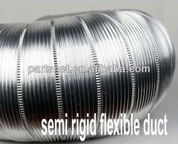 Semi Rigid Aluminum Flexible Air Duct Semi Rigid