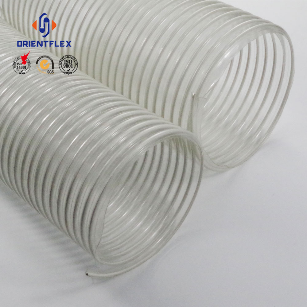 Pvc Steel Wire Spiral Flexible Low Weight Air Duct Fiber Composite ...