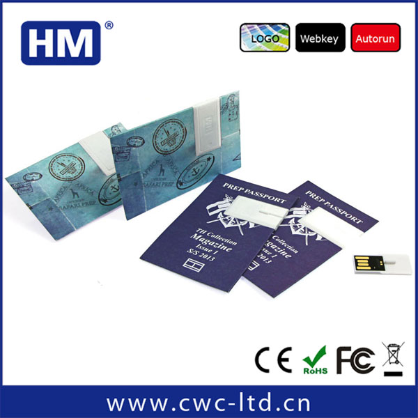 low price business card paper usb flashdrive for promotional