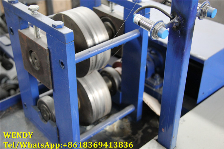 Galvanized scrubber stainless steel mesh scourer flat wire making machine