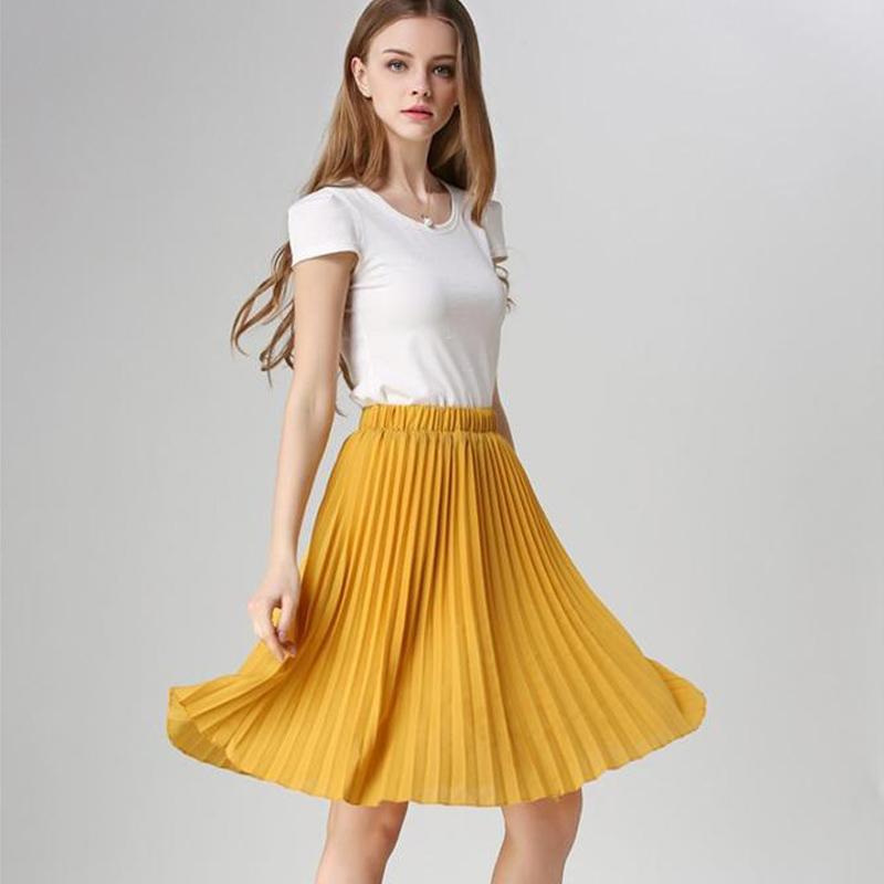 fbc5884aaa Latest Skirt Design Pictures Midi Summer Pleated Skirts For Women ...