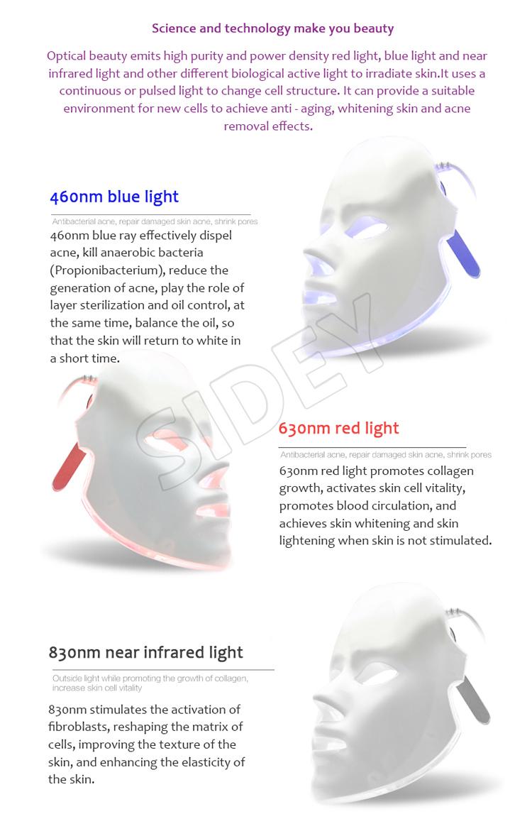 Medical Pdt Light Skin Rejuvenation Led Light Therapy Equipment Pdt Machine Led Mask