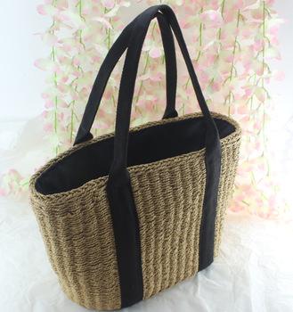 6055f112dafe Стильный сплошной цвет холодный новый дизайн классический Бали сумки Сумка  соломы