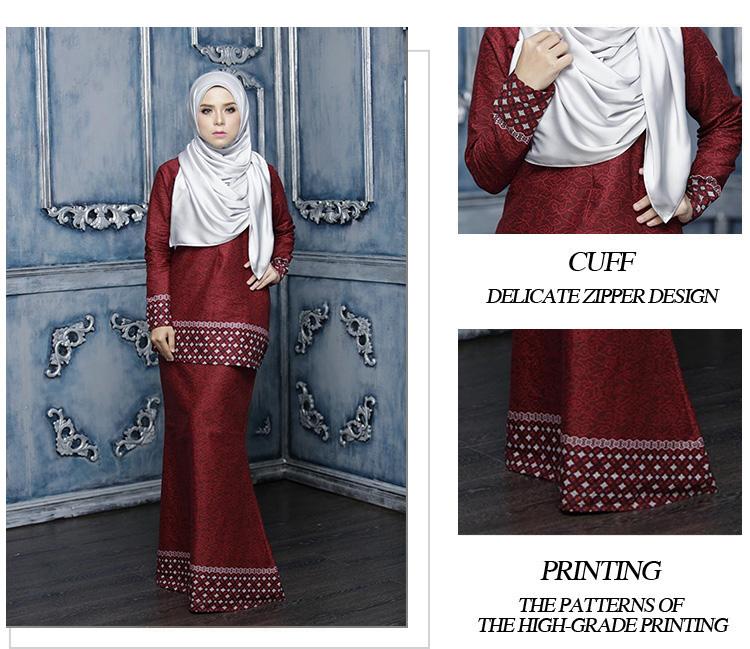 Grosir Baju Kebaya Muslim Lengan Panjang Elegan Gaya Elegan Wanita