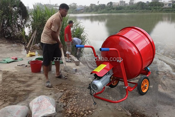 Low price Electric Gasoline Diesel Portable Cement Concrete Mixer