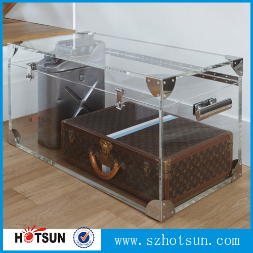 Clear Acrylic Trunk Coffee Table