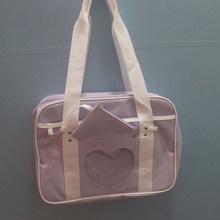 Розовая Дорожная сумка на плечо, школьные рюкзаки для девочек, Студенческая ручная сумка для выходных, большая Брезентовая сумка для багажа...(Китай)