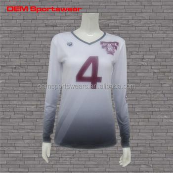 Impresión De Las Mujeres Personalizar Voleibol Blanco Camisas - Buy ... 01f753385dd13