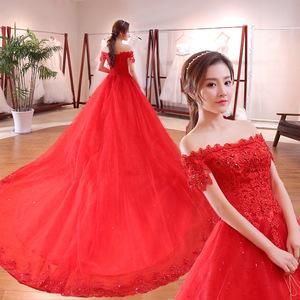 10e06d070a6 Wedding Dress Red Train