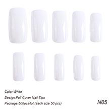 Накладные ногти, 500 шт./пакет, искусственные накладные ногти, овальные треугольные наконечники, набор аксессуаров для маникюра TR872(Китай)