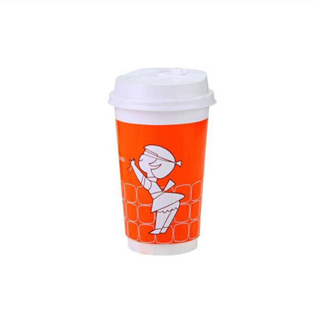 8oz Customized good printing heatwave double wall paper cup for hot coffee,lid can be provided