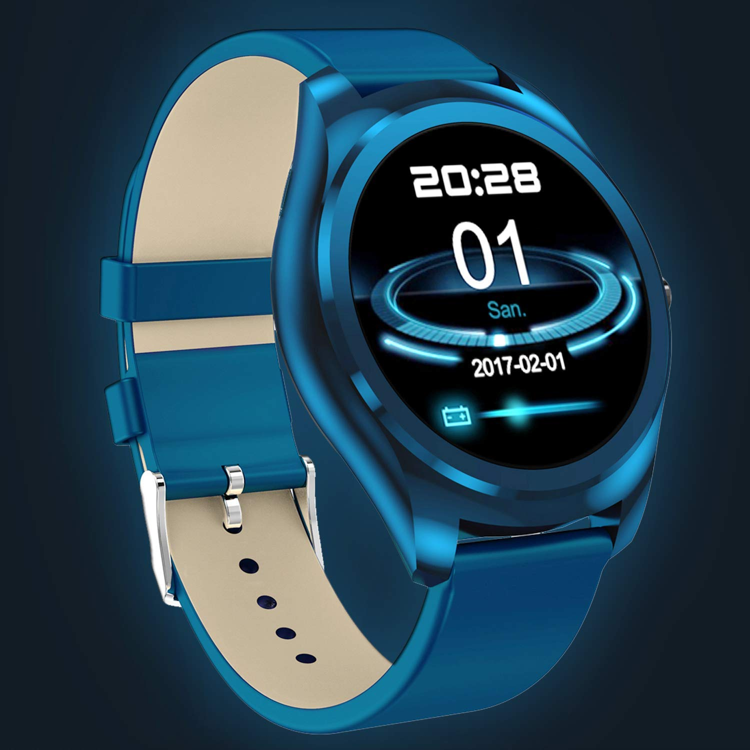 Smart Watch Waterproof IP67 Fitness Tracker with Heart Rate Monitor for Men Women Kids Run Outdoor Sport Watch with Sleep Monitor, Pedometer Calories Tracker, Sync Phone for iOS Android