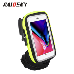 HAISSKY New design Running Riding Arm wristt Band touchable sports mobile phone holder for iphone 8 X plus