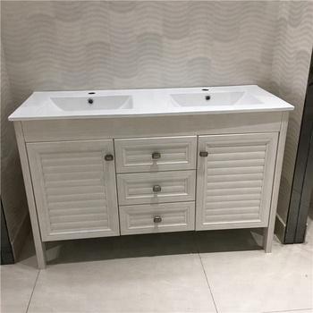 Aluminum Double Sink Bathroom Vanity