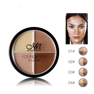Best Name Brand Menow pro 4 colors foundation Makeup Concealer For Oily Skin
