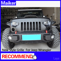 off road 4x4 auto accessories new style grille for jeep wrangler accesorios grille from maiker