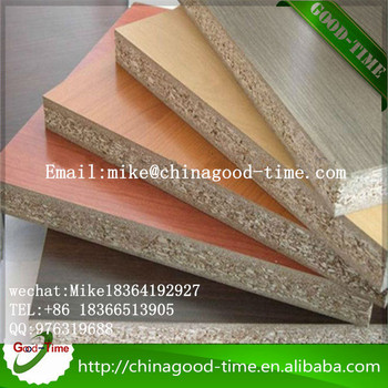 Waterproof Melamine Chipboard Particle Board For Furniture And Rigid Bo