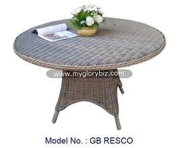 Round Rattan Table Simple Garden Furniture, Classic Outdoor Furniture,  Outdoor Rattan Oval Table