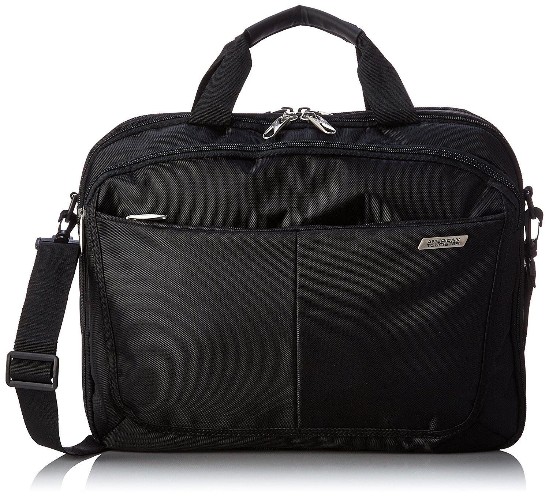 469a5d3b98 Get Quotations · American Tourister Two Gusset Tsa Business Bag