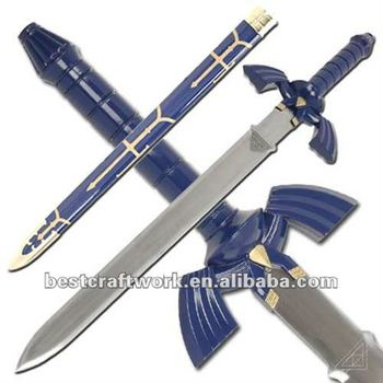 Blue Zelda Japanese Cosplay Swords Buy Cosplay Swordsjapanese Sword Wooden Swordssword Product On Alibabacom