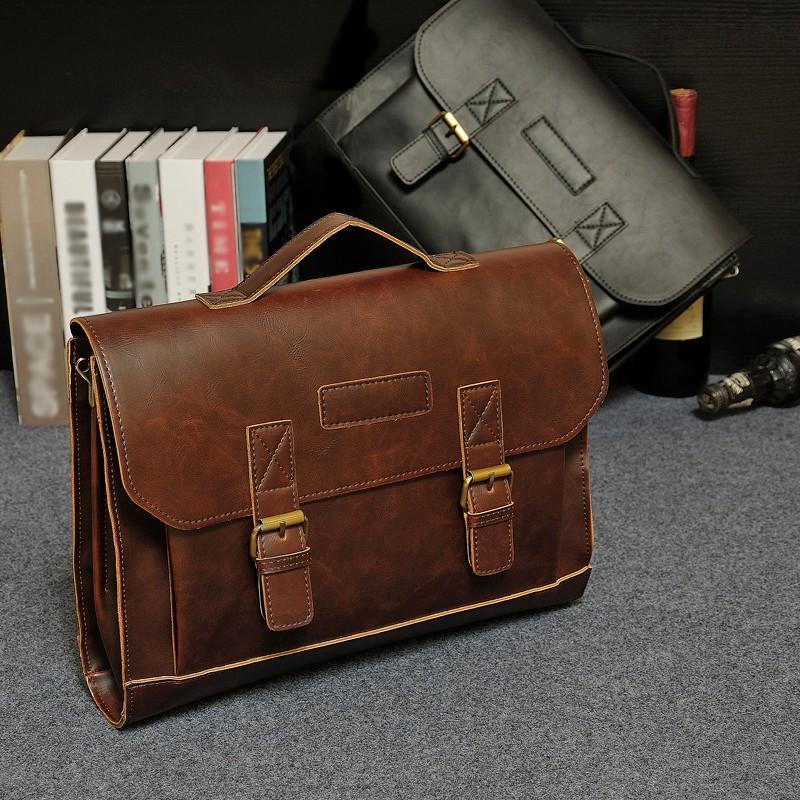 b6afe7da2529 Высокий класс crazy horse PU для мужчин клатч, PU Бизнес Сумка портфели для  человека,