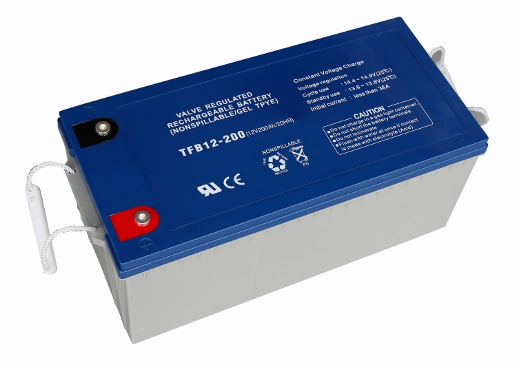 200Ah gel battery for Off grid solar wind hybrid system