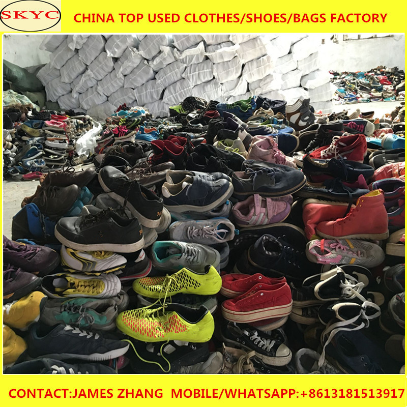 Korea High Quality Used Soccer Shoes Second Hand Sport Shoes