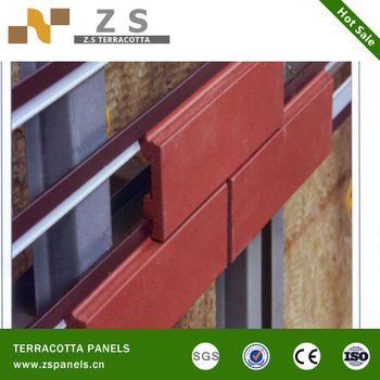 Terracotta Tiles For Dry Hanging Wall Cladding Wood Grain Look Panels Decorative Tile