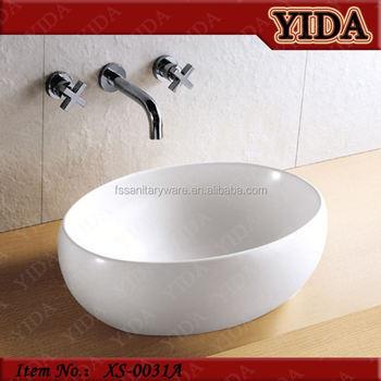 Chaozhou Elliptical Ceramic Wash Basinbathroom Basin With Wall