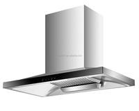QTT-A821B 220V CB certification finger touch control LED lighting Stainless steel cooker hood range hood