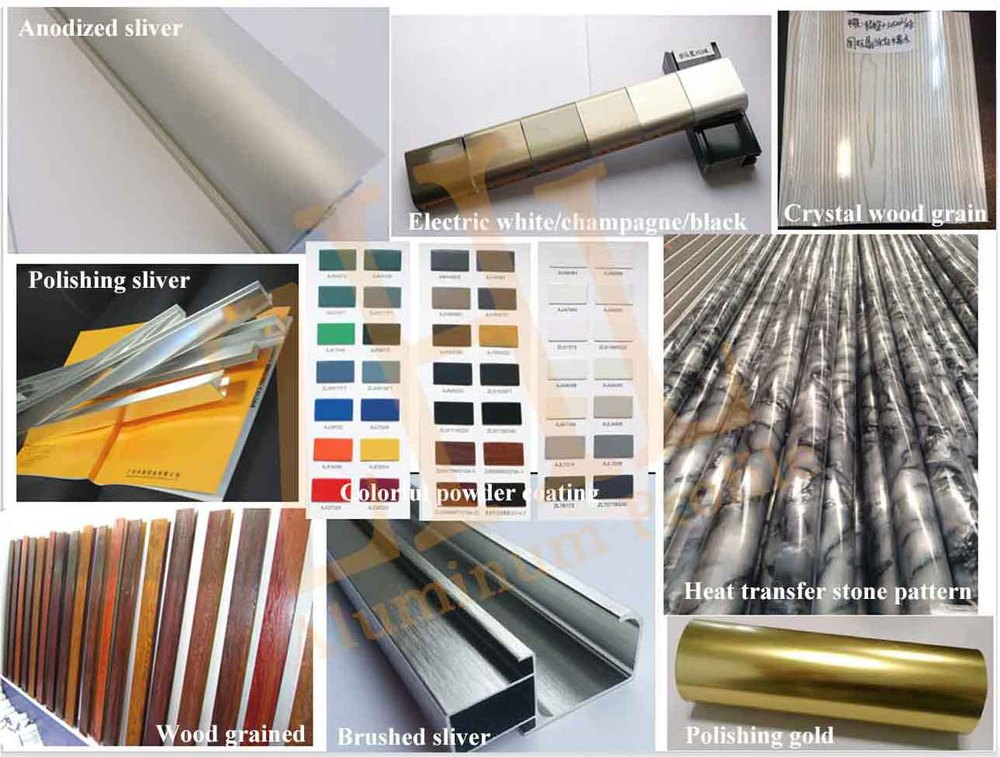 hot aluminum profile for glass shower door factory polish aluminium profiles for shower door
