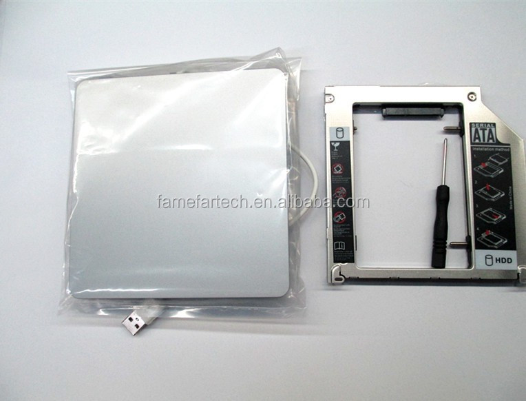 "2020 new case for Apple Macbook Pro unibody 13"" HDD SSD Optibay Adapter Caddy Kit USB DVD Case"