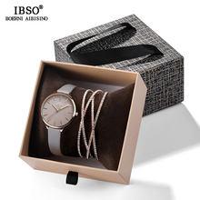 IBSO, часы с браслетом из кристаллов, набор, женские высококачественные кварцевые часы, роскошные женские часы, Набор браслетов для подарка на...(Китай)
