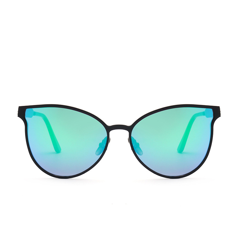 Popular Cat Eye Colorful Alloy Shades Sunglasses