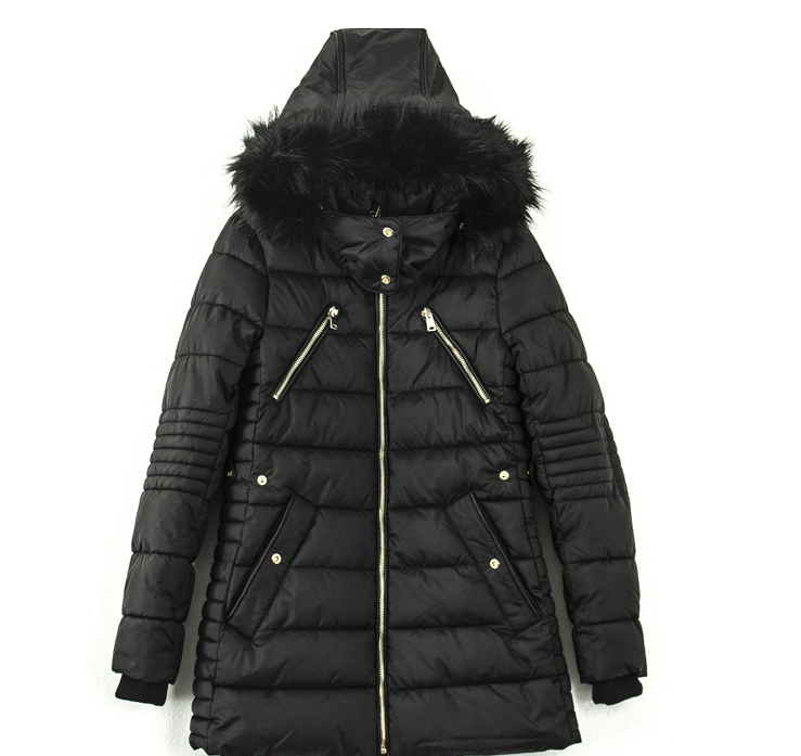 China winter products women zipper padding jackets with polyester hood