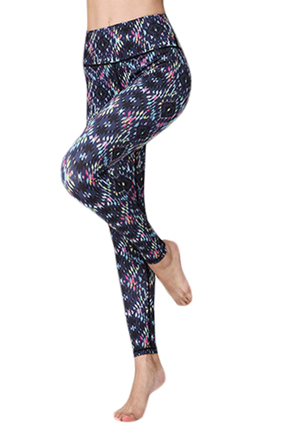 76a89cef32f6f Get Quotations · L'ASHER Women Running Tights, Sport Pant Yoga Pant High  Waist Tummy Control Compression