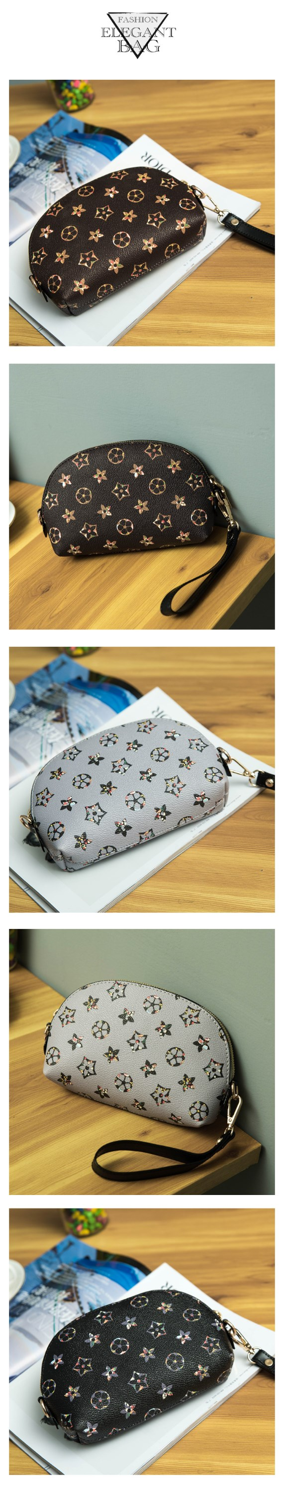 Wash gargle bag 2017 flowers Cosmetic bag lady /Small hand bag