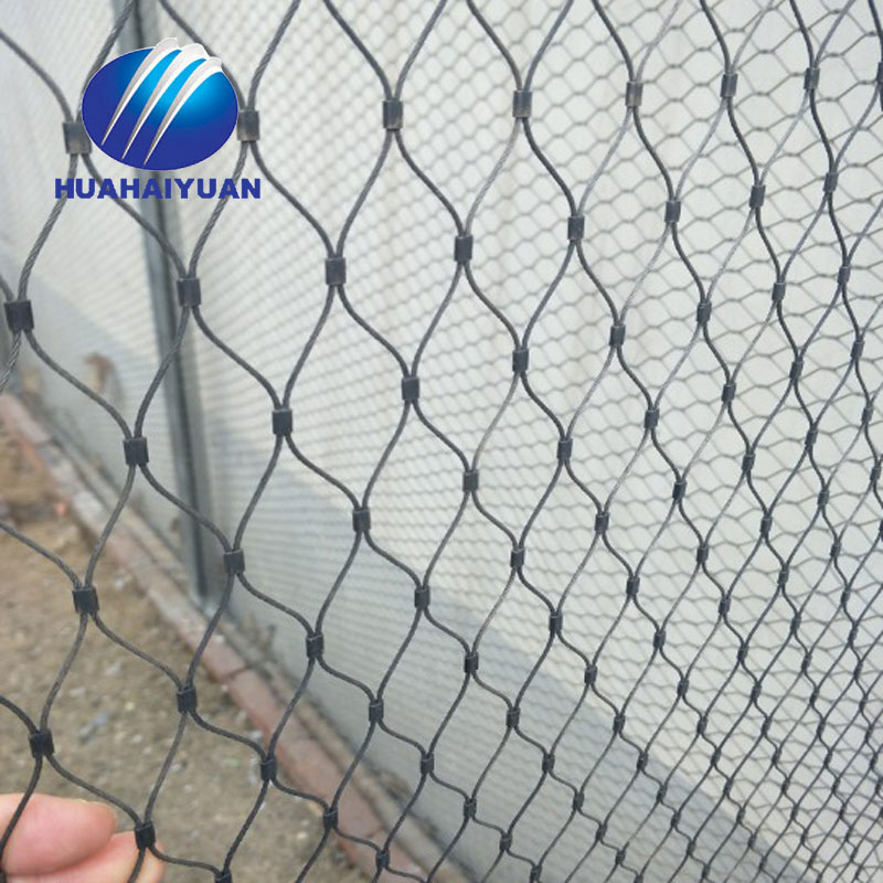 Stainless steel 304 zoo mesh tiger and parrots enclosure mesh hand woven rope mesh