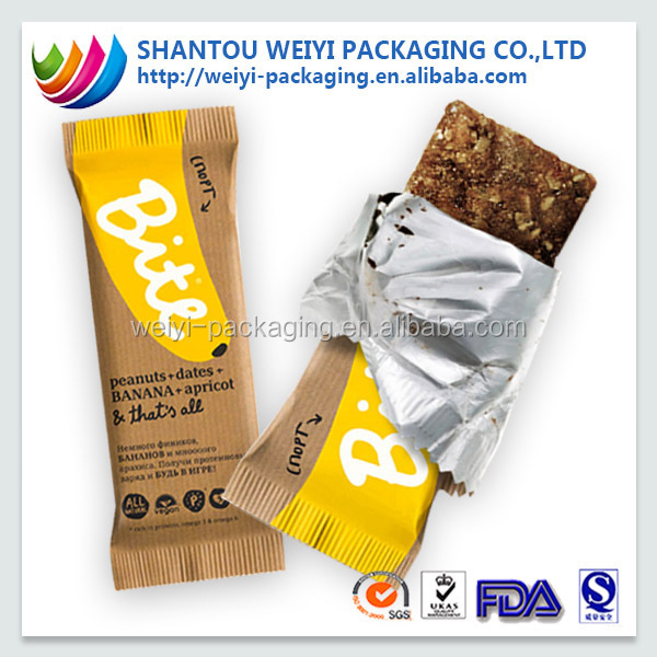 Foil Lined Cereal Bar Wrapper Packaging For Biscuit Packaging ...