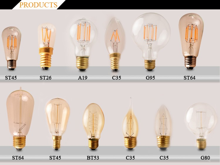Best Product For Import China Decorative Antique Vintage Extra Large Edison Bulb 125mm Home Lighting Retro