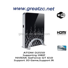 ZC-H610 3D Game Mini Computer Onboard INTEL ATOM D2550 CPU NVIDIA Graphics Card Mini PC With Low Power Consumption