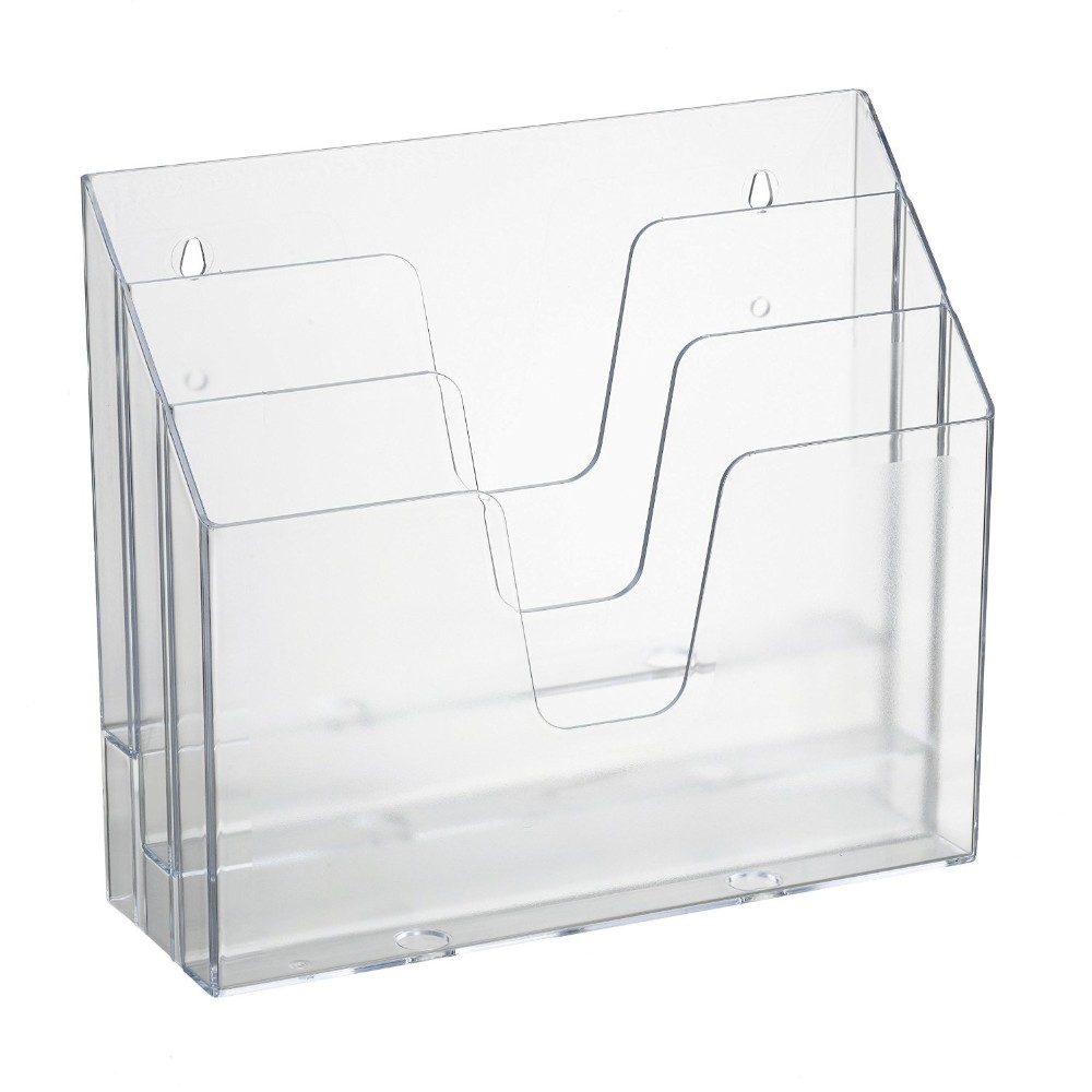 Wall Mount Clear Acrylic Document Magazine Holder Lucite