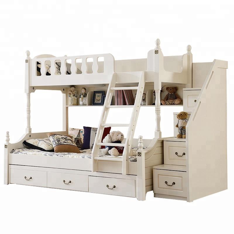 Modern Wooden Bed Furniture 3 Tier Kids